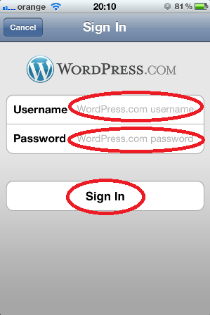 4. Autentifica-te in aplicatie cu userul si parola ta