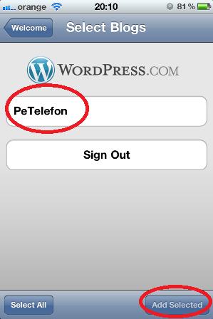 5. Selecteaza blogul PeTelefon