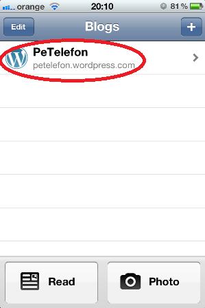 6. Vei observa acum PeTelefon in lista ta de bloguri din aplicatie